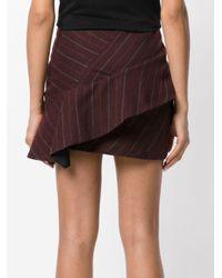 Isabel Marant Kimura Pinstriped Skirt in het Pink
