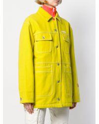 Heron Preston ロゴ デニムジャケット Yellow