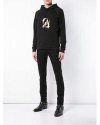 Толстовка С Капюшоном И Принтом Saint Laurent для него, цвет: Black