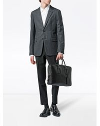 Malette zippée en cuir Prada pour homme en coloris Black