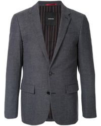Blazer slim Loveless de hombre de color Gray