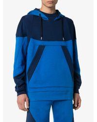 メンズ Alexander McQueen パネル ロゴ パーカー Blue