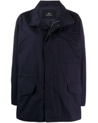 PS by Paul Smith Blue Zipped-up Jacket