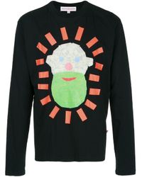 Walter Van Beirendonck Pre-Owned Black Taped Face Longsleeved T-shirt for men
