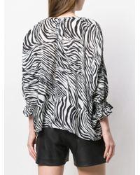 Blusa zebrata di McQ Alexander McQueen in Black