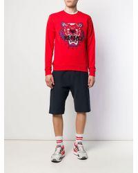 Felpa Tiger di KENZO in Red da Uomo