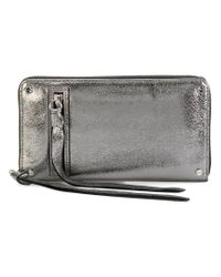 McQ Alexander McQueen Metallic Loveless Zip-around Wallet