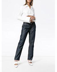 Jour/né Blue Denim Trousers With Hem Detail