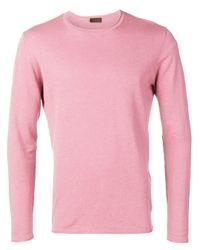 Altea Classic Trui in het Pink voor heren