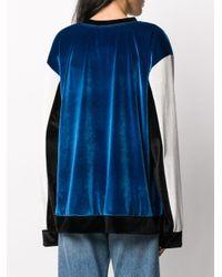 Koche カラーブロック スウェットシャツ Blue