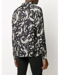 メンズ AllSaints エンブロイダリー シャツ Black
