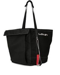 メンズ Lanvin オーバーサイズ ハンドバッグ Black