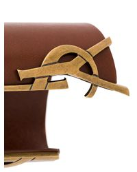 Saint Laurent - Brown Opyum Monogram Leather Bracelet - Lyst