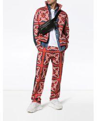 メンズ Valentino ロゴ スウェットパンツ Red