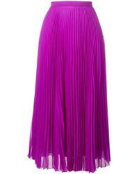 Marco De Vincenzo Purple High Waisted Pleated Skirt