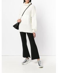 Stella McCartney Black Flared High-waisted Trousers