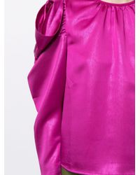 Blusa con ruches Astrid di Tanya Taylor in Pink