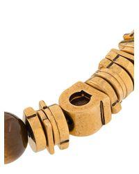 Браслет Из Бусин С Декором Gancini Ferragamo для него, цвет: Brown