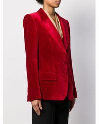 Blazer con efecto de terciopelo Tom Ford de color Red