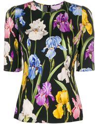 Blusa con stampa di Dolce & Gabbana in Multicolor