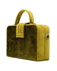 Mehry Mu - Green Velvet Box Tote - Lyst