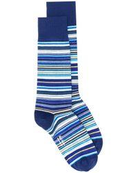 Paul Smith Blue Striped Print Socks for men