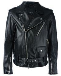 メンズ 3.1 Phillip Lim Moto Jacket W/ Multi Zip Black