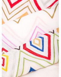 Janavi シェブロン カシミアスカーフ Multicolor