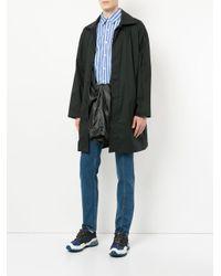 Y. Project - Black Concealed Front Coat for Men - Lyst