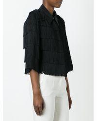 Stella McCartney Black Cropped Fringe Shirt