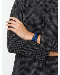Saint Laurent - Blue Leather Bracelet - Lyst