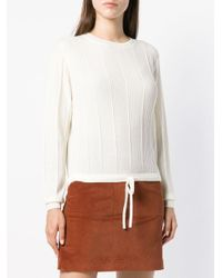 A.P.C. Multicolor Ribbed Knit Sweater