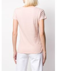 Majestic Filatures Vネック Tシャツ Pink