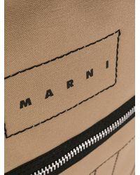メンズ Marni ロゴ ステッチ バックパック Brown