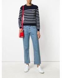 Maison Labiche Blue Classic Striped Sweater