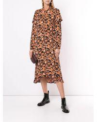 Vestido midi con motivo floral Baum und Pferdgarten de color Black