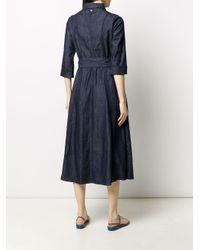 Twin Set デニム シャツドレス Blue