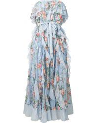 Vestito midi a fiori di Zimmermann in Blue