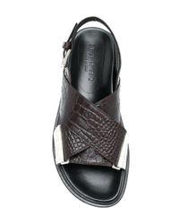 Marni Brown Fussbett Crossover Sandals
