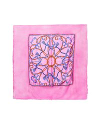 Avant Toi - Pink Baroque Printed Scarf - Lyst