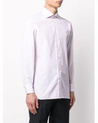 Клетчатая Рубашка С Длинными Рукавами Ermenegildo Zegna для него, цвет: Multicolor