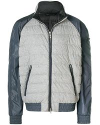 Peuterey - Gray Zipped Padded Jacket for Men - Lyst