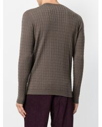 Giorgio Armani - Green Textured Knit Jumper for Men - Lyst