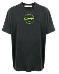 メンズ Off-White c/o Virgil Abloh グラフィック Tシャツ Black