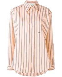 Off-White c/o Virgil Abloh Orange Gestreiftes Hemd