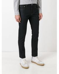 AMI - Blue Slim Fit 5 Pocket Jeans for Men - Lyst