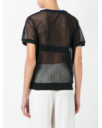 Monreal London - Black Mesh 'sweat' T-shirt - Lyst