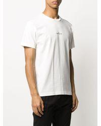 Stone Island White Graphic-print T-shirt for men