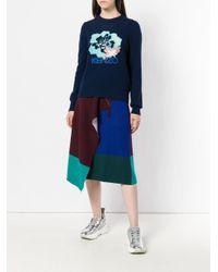 KENZO フローラル セーター Blue