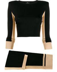 Ensemble top-jupe en maille Elisabetta Franchi en coloris Black